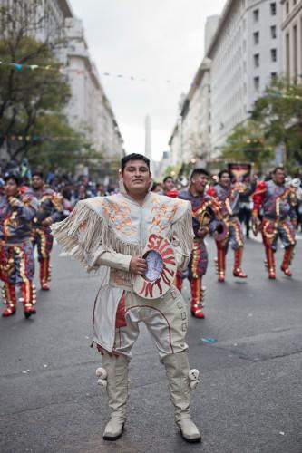 Fotos del Desfile por la Integracion Cultural de Bolivia y Argentina, 2015 05