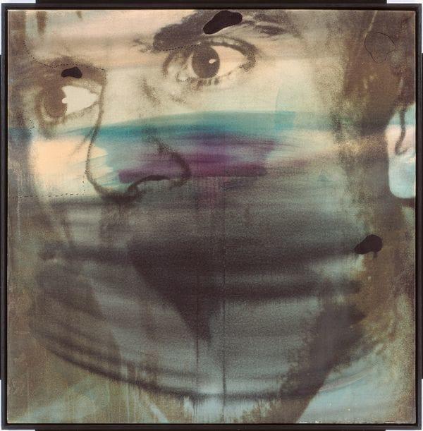 """Wolf Vostell. Dutschke, 1968. Haus der Geschichte Edward Shaw. Campaña """"Dele una der Bundensrepublik Deutschland, Bonn © ADAGP, mano a los desaparecidos"""", 1985. Archivo París, 2016. Edward Shaw."""
