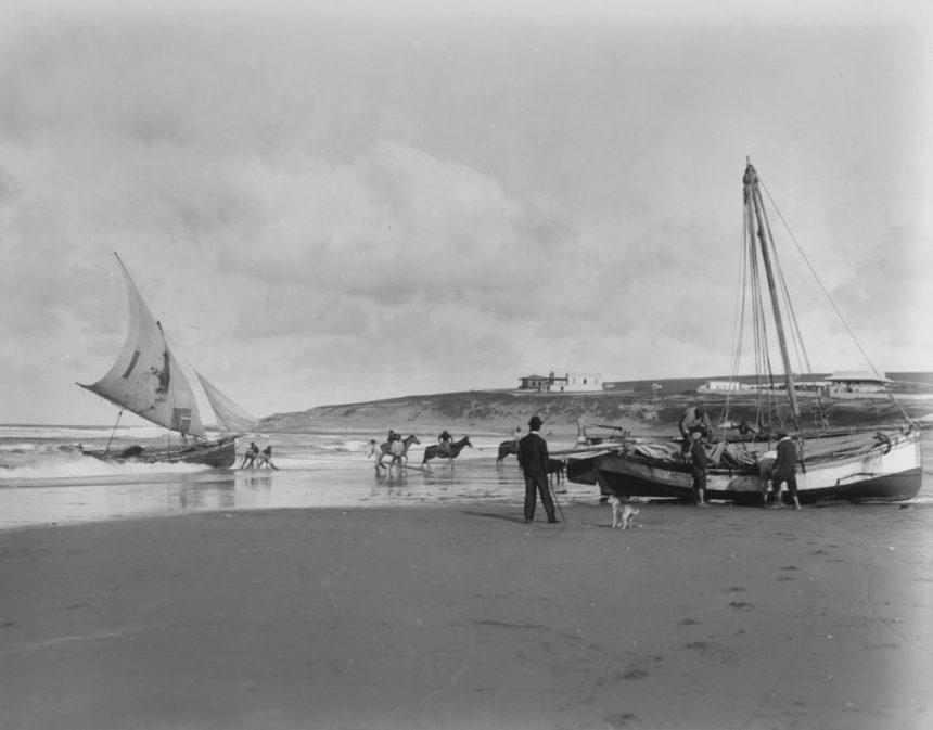 Harry Grant Olds 414. Lanchas pescadoras. Mar del Plata, S.A. (circa 1901)